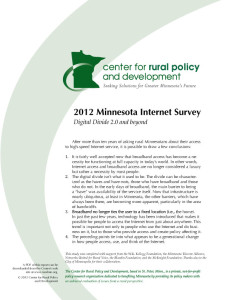 2012 MN Broadband Survey